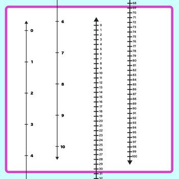 Vertical Numberlines - Counting from Top Down Math Clip Art Commercial Use