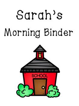 *Updated* Vertical/Portrait Editable Morning Binder