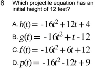 Vertical Projectiles for 9th & 10th Grade, Study Guide + 5 Assignments for SMART