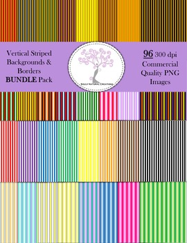 Vertical Striped Backgrounds and Borders BUNDLE Pack