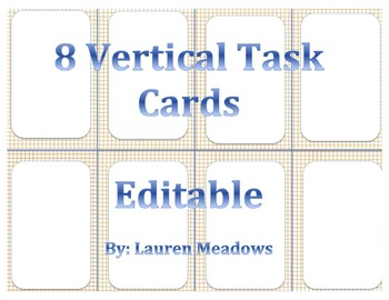 Vertical Task Cards (8)