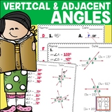Vertical and Adjacent Angles Activity