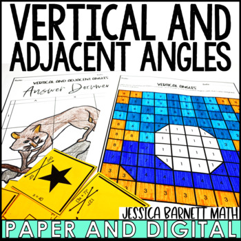 Vertical and Adjacent Angles Activity Pack