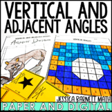 Vertical and Adjacent Angles Activity Bundle