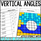 Vertical Angles Activity | Coloring Page
