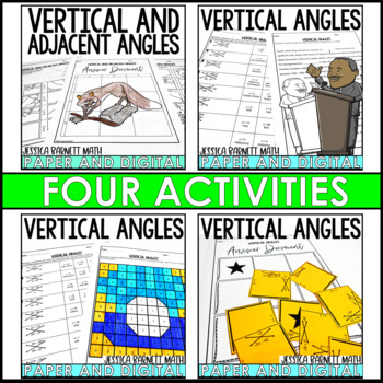 Vertical and Adjacent Angles Lesson Bundle