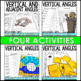 Vertical and Adjacent Angles Lesson Bundle