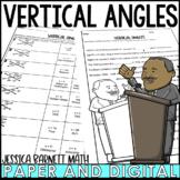 Vertical Angles Activity | Mistory Lib