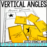 Vertical Angles Puzzle Activity