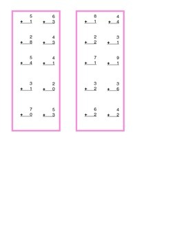 Vertical and Horizontal Addition Strips
