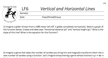 Vertical and Horizontal Lines (LF6): 8.F.B.4