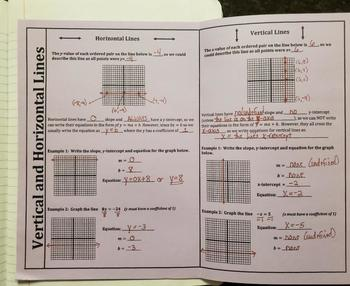 Vertical and Horizontal Lines (Foldables)
