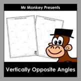 Vertically Opposite Angles Worksheets