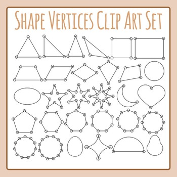 Vertices Circled on Shapes Clip Art Pack for Commercial Use