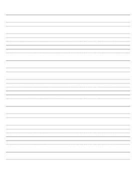 Verticial Handwriting Paper