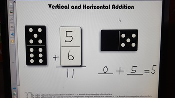 Verticle and Horizontal adding with domino's