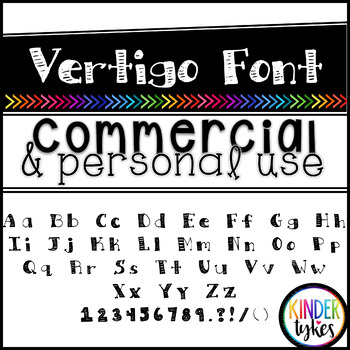 Vertigo Font by Kinder Tykes for Personal & Commercial Use