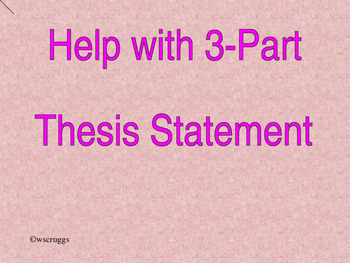 Very Basic 3-part thesis statement help