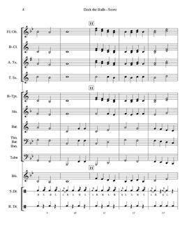 Very Beginning Band Arrangement - Deck the Halls
