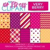 Very Berry Valentine Digital Papers