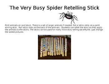 Very Busy Spider Retelling Stick