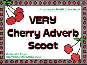 Very Cherry Adverb SCOOT with Bonus Game Board