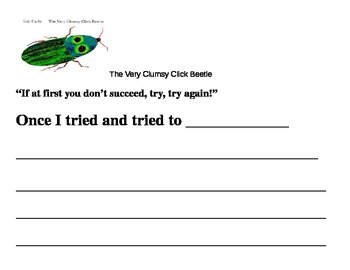 Very Clumsy Click Beetle Writing Prompt