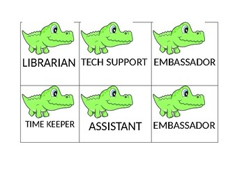 Very Cute Baby Alligator Themed Student Jobs