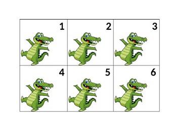 Very Cute Dancing Alligator Numbers