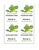 Very Cute Editable Alligator Labels