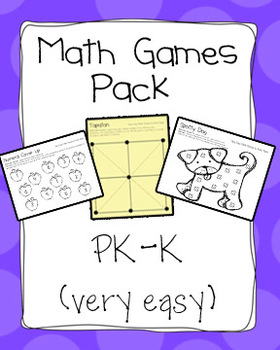 Very Easy Math Games Pack - PK-K - Math Work Stations