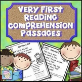 Reading Comprehension Passages & Questions Kindergarten 1st BOOM CARDS ELA