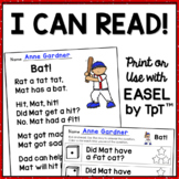 Kindergarten Reading Comprehension Passages & Questions: G