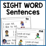 * Kindergarten Sight Word Sentences for Guided Reading Levels A and B