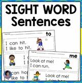Kindergarten Sight Word Sentences & Games Guided Reading Levels A & B {Digital}