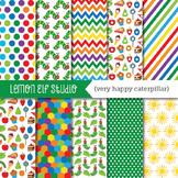 Very Happy Caterpillar-Digital Paper (LES.DP24)