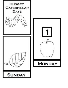 Very Hungry Caterpillar BW Flip Recall Book