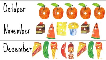 Very Hungry Caterpillar: Calendar Months