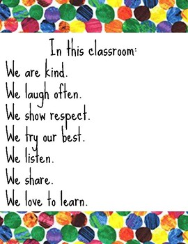 Very Hungry Caterpillar: Classroom Rules