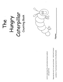 Very Hungry Caterpillar Counting Book with Counting and Cardinality Lesson Plan