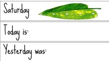 Very Hungry Caterpillar: Days of the Week