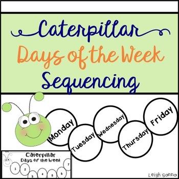 Caterpillar Days of the Week Sequence