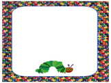 Very Hungry Caterpillar Editables