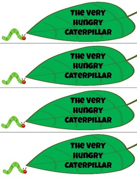 Very Hungry Caterpillar Hole Punch #1-10