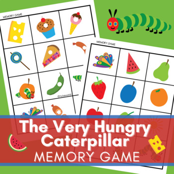 Very Hungry Caterpillar Inspired Classic Memory Card Game