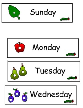 Very Hungry Caterpillar Lesson Plan / Smartboard File / Activity Cards