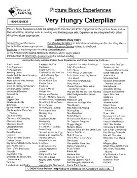 Very Hungry Caterpillar Literature Guide