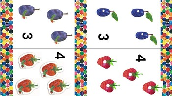 Very Hungry Caterpillar Matching Game