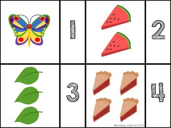 Very Hungry Caterpillar Math Centers (Common Core Aligned)