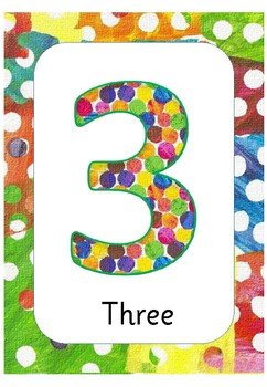 Very Hungry Caterpillar Numbers to 5